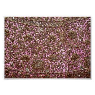 Gesticktes rosa Gewebe Neu-Delhi Indien Foto Drucke