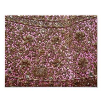Gesticktes rosa Gewebe Neu-Delhi Indien Kunst Photo