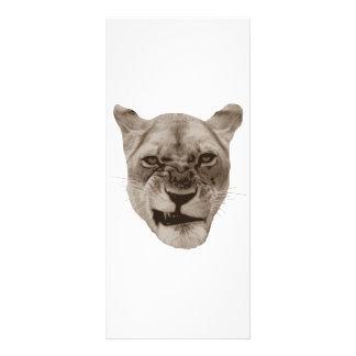 Gestörte Verwirrungs-Löwe-Katze Werbekarte