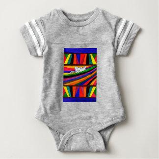 Gestreifte Abstraktion Design2 Baby Strampler