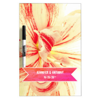 Gestreifte Amaryllis-Blumen-kundenspezifische Trockenlöschtafel