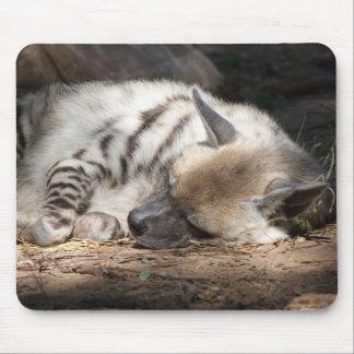 gestreifte Hyäne Schlafens Mousepad