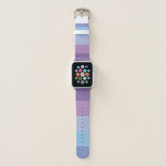 Gestreifte lila und blaue Palette Apple Watch Armband