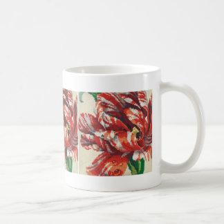 Gestreifte Papageien-Tulpe-große Stich-Tasse Kaffeetasse