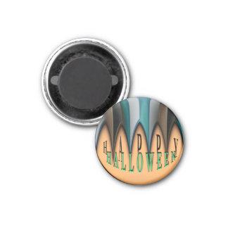 Gestreifte Reißzähne Kürbis-orange glückliche Runder Magnet 2,5 Cm
