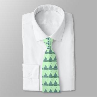 Gestreifte Segel-Boots-Krawatte Krawatte