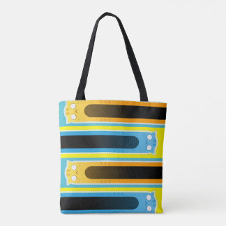 Gestreifte Taschentasche der blauen Ingwer-Katze Tasche