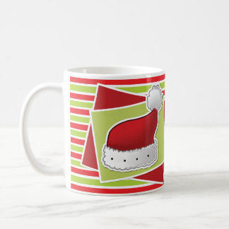 Gestreifte WeihnachtsTasse w/Hat Tasse