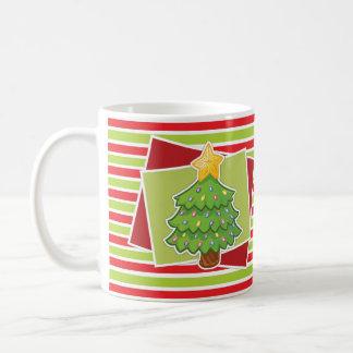 Gestreifte WeihnachtsTasse w/Tree Tasse