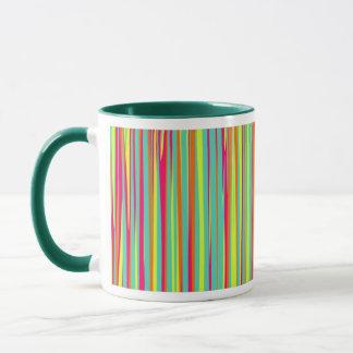 Gestreifter abstrakter Entwurf Tasse