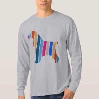 Gestreifter Cocker spaniel-Hund T-Shirt