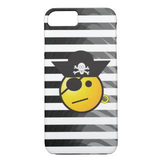 Gestreifter Pirat Emoji iPhone Schwarzweiss-Kasten iPhone 8/7 Hülle