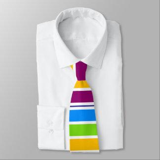 Gestreifter Regenbogen gefärbt Personalisierte Krawatte