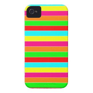 Gestreifter Regenbogen iPhone 4 Hülle
