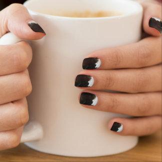 Gestreifter schwarzer Achat, cooler einzigartiger Minx Nagelkunst