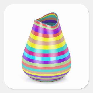 Gestreifter Vase Quadratischer Aufkleber