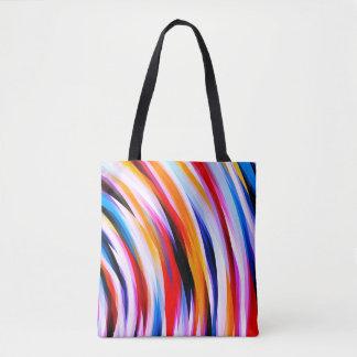 Gestreiftes Mehrfarbenmuster Tasche