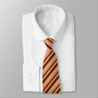 Gestreiftes Muster Browns Individuelle Krawatte