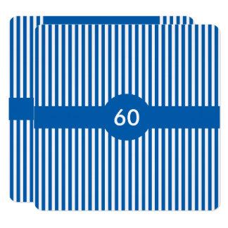 Gestreiftes Muster für bestellte Farben voraus Quadratische 13,3 Cm Einladungskarte