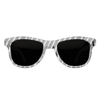 Gestreiftes Muster-Schwarzweiss-Sonnenbrille Sonnenbrille