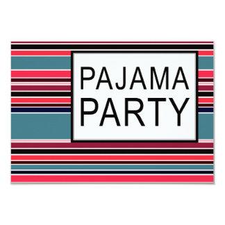 gestreiftes Pyjama-Party 8,9 X 12,7 Cm Einladungskarte