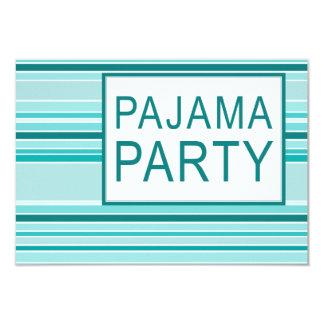gestreiftes Pyjama-Party Personalisierte Ankündigungen