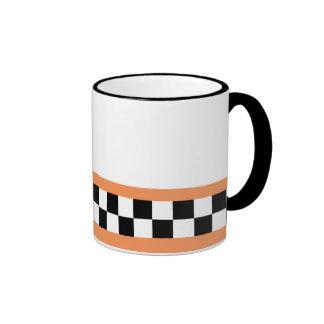 gestreiftes Schachbrett der Kantalupe Kaffeehaferl