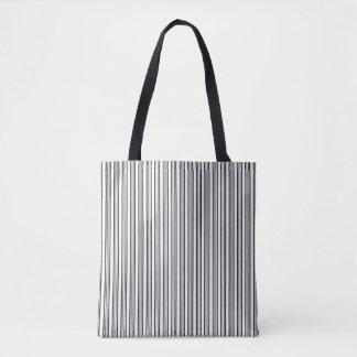 Gestreiftes Schwarzweiss-Muster Tasche