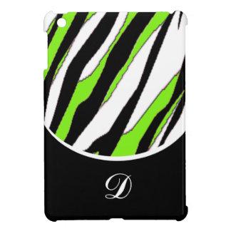 Gestreiftes Zebra-und Neon-Grün iPad Mini Hülle