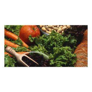 Gesunde Nahrung Individuelle Foto Karten