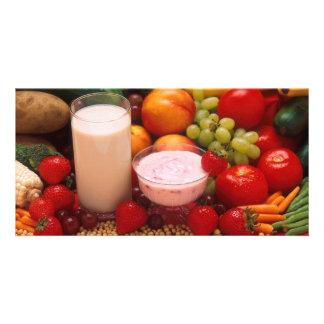 Gesunde Nahrung Fotogrußkarten