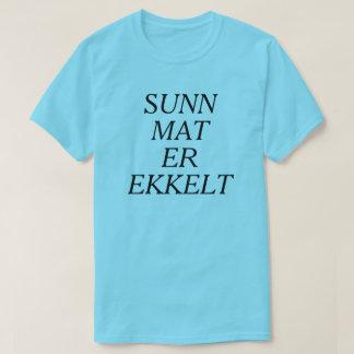 Gesunde Nahrung ist im norwegischen Blau ekelhaft T-Shirt