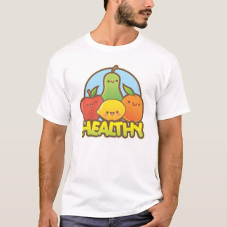 Gesunde niedliche Frucht T-Shirt