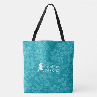 Gesunde Trekking hawaiischer Hibiskus-aquamarine Tasche