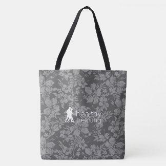 Gesunde Trekking hawaiischer Hibiskus-graue Tasche