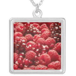 Gesunde und nahrhafte rote Beeren Versilberte Kette