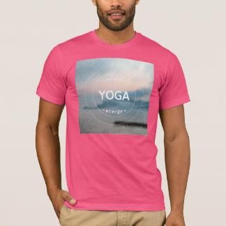 Gesunde Yoga-Energie-Mann-T - Shirt-Fuchsie T-Shirt