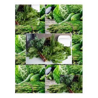 Gesunder Salat-Köche Cuisine des grünen Postkarte