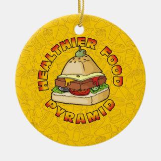 Gesündere Ernährungspyramide Keramik Ornament