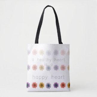 Gesundes glückliches Herz ganz über Taschen-Tasche