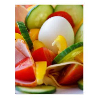 Gesundes veganes Frühstück Postkarte