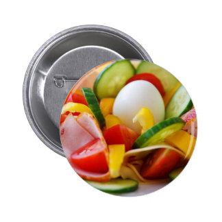 Gesundes veganes Frühstück Runder Button 5,1 Cm