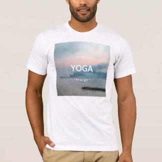 Gesundes Yoga-Energie-Mann-T - Shirt-Weiß T-Shirt