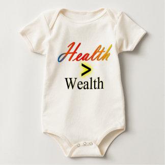 Gesundheit ist größer als Reichtum Baby Strampler