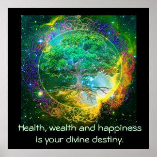 Gesundheit, Reichtum u. Glück Poster
