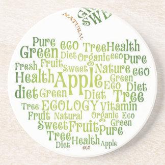 Gesundheits-grünes ökologisches untersetzer