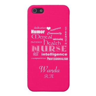 Gesundheits-Krankenschwester-Stolz+Herz/Pink Schutzhülle Fürs iPhone 5