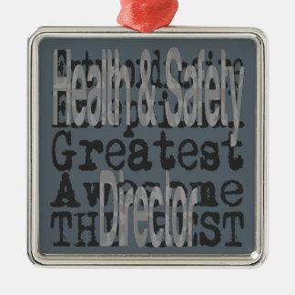 Gesundheits-und Sicherheits-Direktor Silbernes Ornament