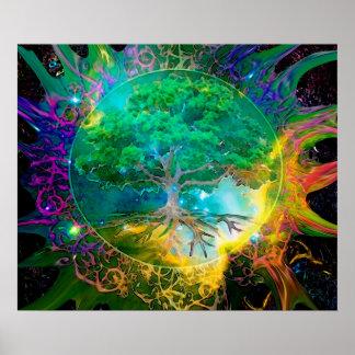 Gesundheits-und Vitalitäts-Baum des Lebens Poster
