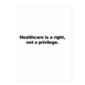 Gesundheitswesen ist ein Recht, nicht ein Privileg Postkarte